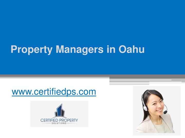 Property Management subjects name