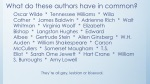 What do these authors have in common?