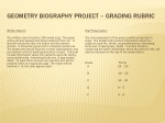 Geometry Biography  Project – Grading Rubric