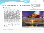 Short term rental accommodation in Cannes