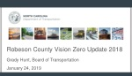 Robeson County Vision Zero Update 2018