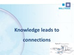 Knowledge leads to connections