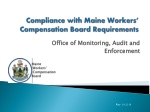 Compliance with Maine Workers' Compensation Board Requirements