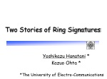 Two Stories of Ring Signatures