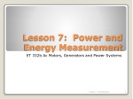 Lesson 7: Power and Energy Measurement