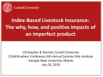 Index-Based Livestock Insurance: The why, how, and positive impacts of an imperfect product