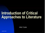 Introduction of Critical Approaches to Literature