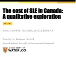 The cost of SLE in Canada: A qualitative exploration