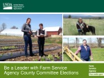 Be a Leader with Farm Service Agency County Committee Elections