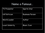 Name a Famous…