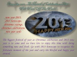 December 2012 - A Month of Celebrations