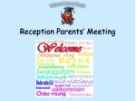Reception Parents' Meeting