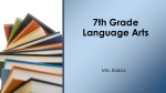 7th Grade Language Arts