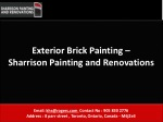 Exterior Brick Painting –  Sharrison Painting and Renovation