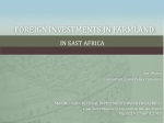 FOREIGN INVESTMENTS IN FARMLAND