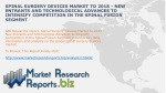 Spinal Surgery Devices Market to 2018