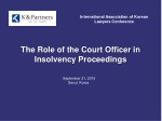 The Role of the Court Officer in Insolvency Proceedings