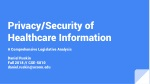 Privacy/Security of Healthcare Information