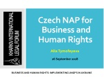 Czech NAP for Business and Human Rights