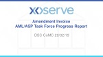 Amendment Invoice AML/ASP Task Force Progress Report