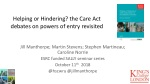 Helping or Hindering? the Care Act debates on powers of entry revisited