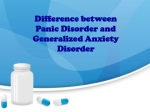 Difference between GAD and Panic