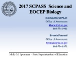 2017 SCPASS Science and EOCEP Biology