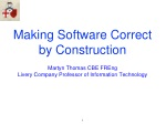 Making Software Correct by Construction