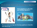 Home Appliances Easy Cleaning Products