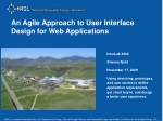 An Agile Approach to User Interface Design for Web Applications