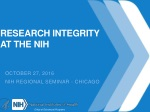 Research integrity at the nih