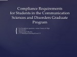 Compliance Requirements for Students in the Communication Sciences and Disorders Graduate Program