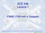 FSMD: FSM with a Datapath