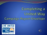 Completing a United Way Campaign Report Envelope