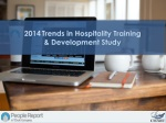 2014 Trends in Hospitality Training & Development Study
