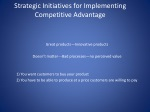 Strategic Initiatives for Implementing Competitive Advantage