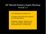 AP World History Exam Review