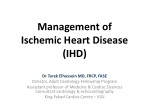 Management of Ischemic Heart Disease (IHD)
