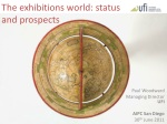 The exhibitions world: status and prospects