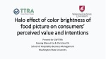 Halo effect of color brightness  of food picture  on consumers' perceived value and intentions