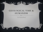 Geological time & Humanism