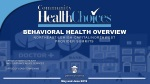 BEHAVIORAL HEALTH OVERVIEW NORTHEAST/LEHIGH-CAPITAL/NORTHWEST PROVIDER SUMMITS