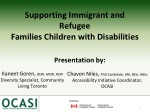Supporting Immigrant and Refugee Families Children with  Disabilities