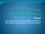 Challenges to Foreign Policy Formulation