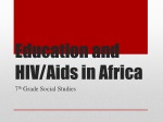 Education and HIV/Aids in Africa