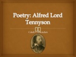 Poetry: Alfred Lord Tennyson