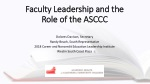 Faculty Leadership and the Role of the ASCCC