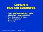 Lecture 5 FAN and SOCRATES