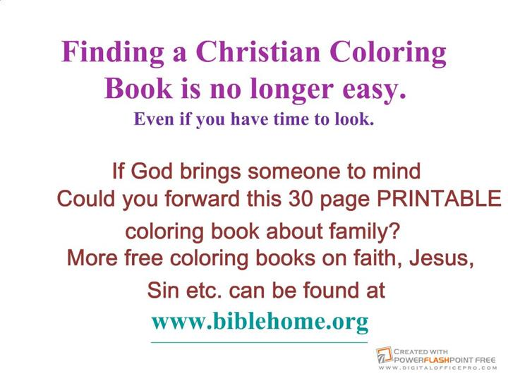 Free Christian Coloring Pages