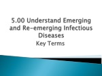 5.00 Understand Emerging and Re-emerging Infectious Diseases